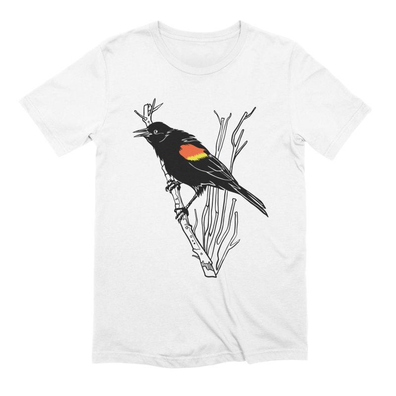 Red-Winged Blackbird Men's Extra Soft T-Shirt by My Metal Hand Artist Shop