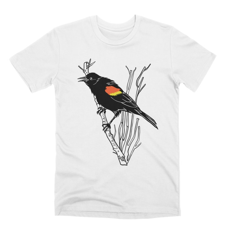 Red-Winged Blackbird Men's Premium T-Shirt by My Metal Hand Artist Shop