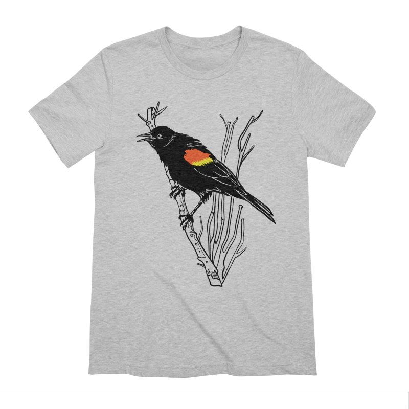 Red-Winged Blackbird Men's Extra Soft T-Shirt by My Metal Hand Artist Shop