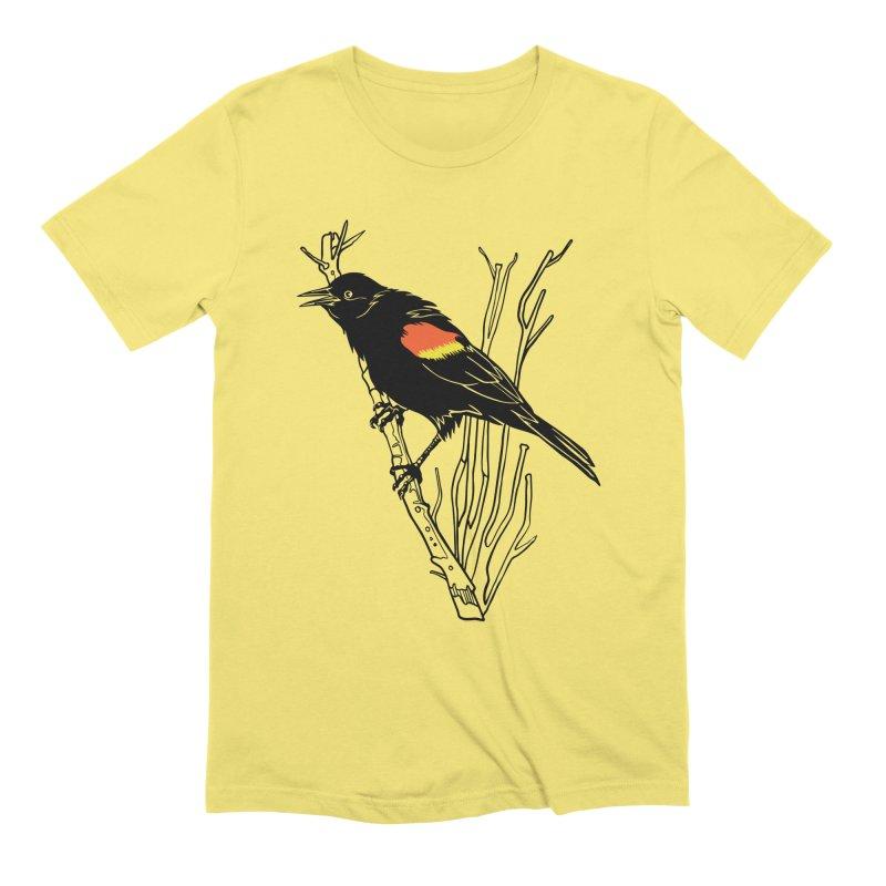 Red-Winged Blackbird Men's T-Shirt by My Metal Hand Artist Shop