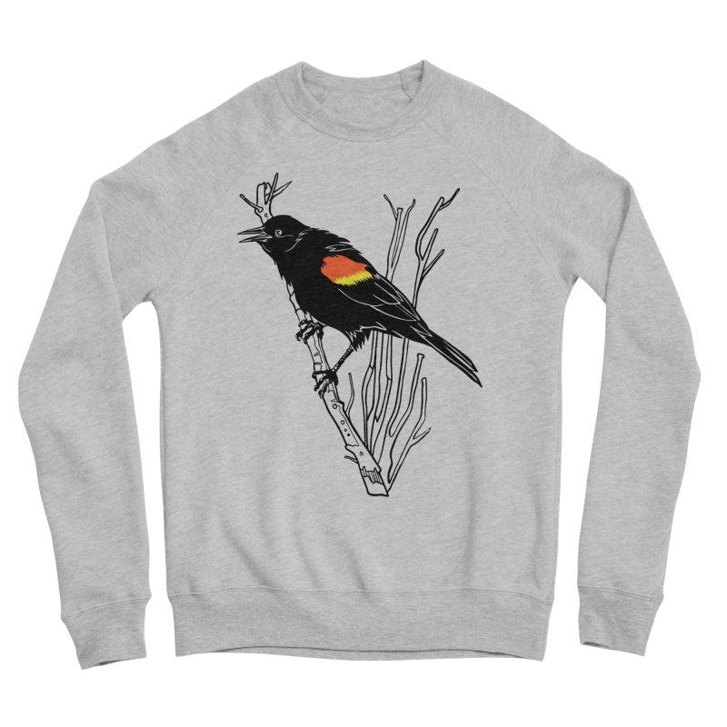 Red-Winged Blackbird Men's Sponge Fleece Sweatshirt by My Metal Hand Artist Shop