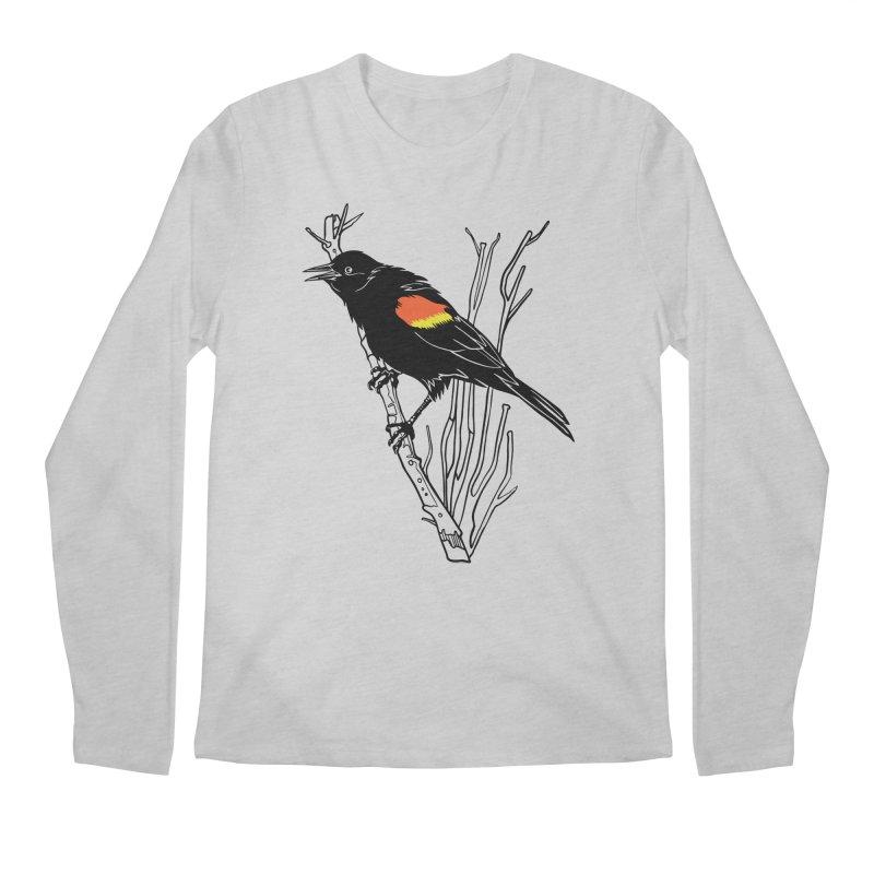 Red-Winged Blackbird Men's Regular Longsleeve T-Shirt by My Metal Hand Artist Shop