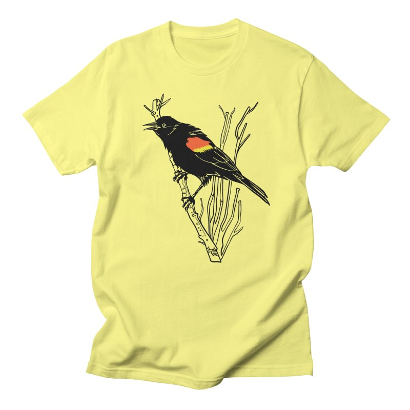 Red-Winged Blackbird Men's Regular T-Shirt by My Metal Hand Artist Shop
