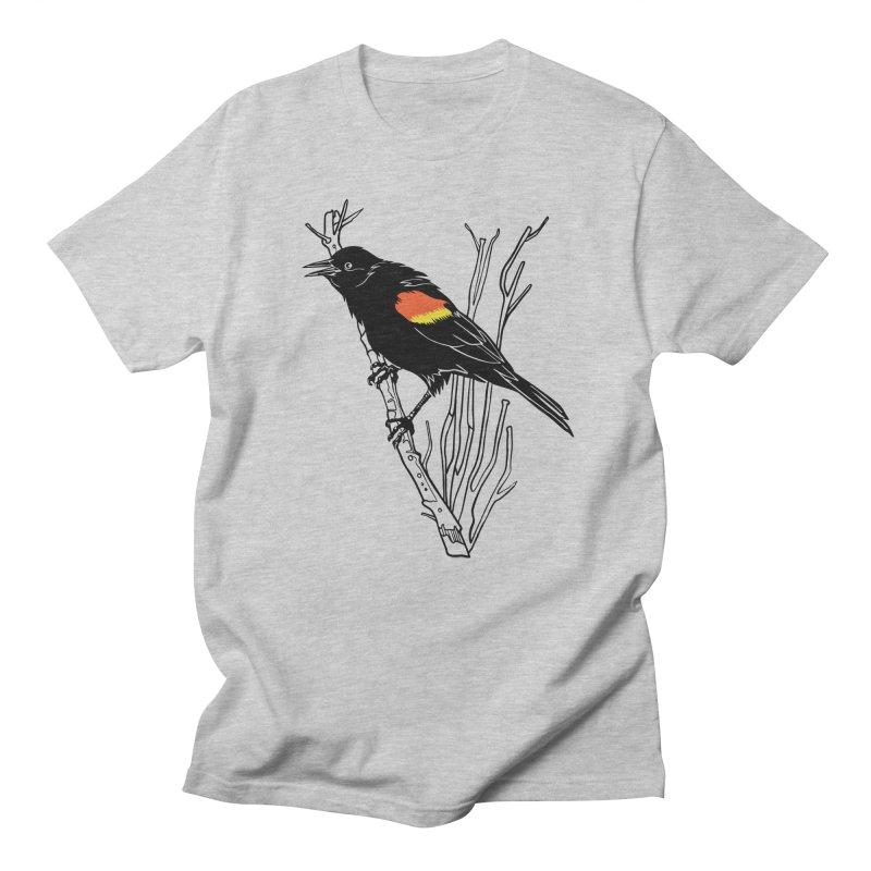 Red-Winged Blackbird Women's Regular Unisex T-Shirt by My Metal Hand Artist Shop