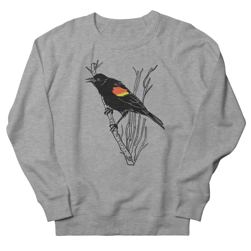 Red-Winged Blackbird Women's French Terry Sweatshirt by My Metal Hand Artist Shop
