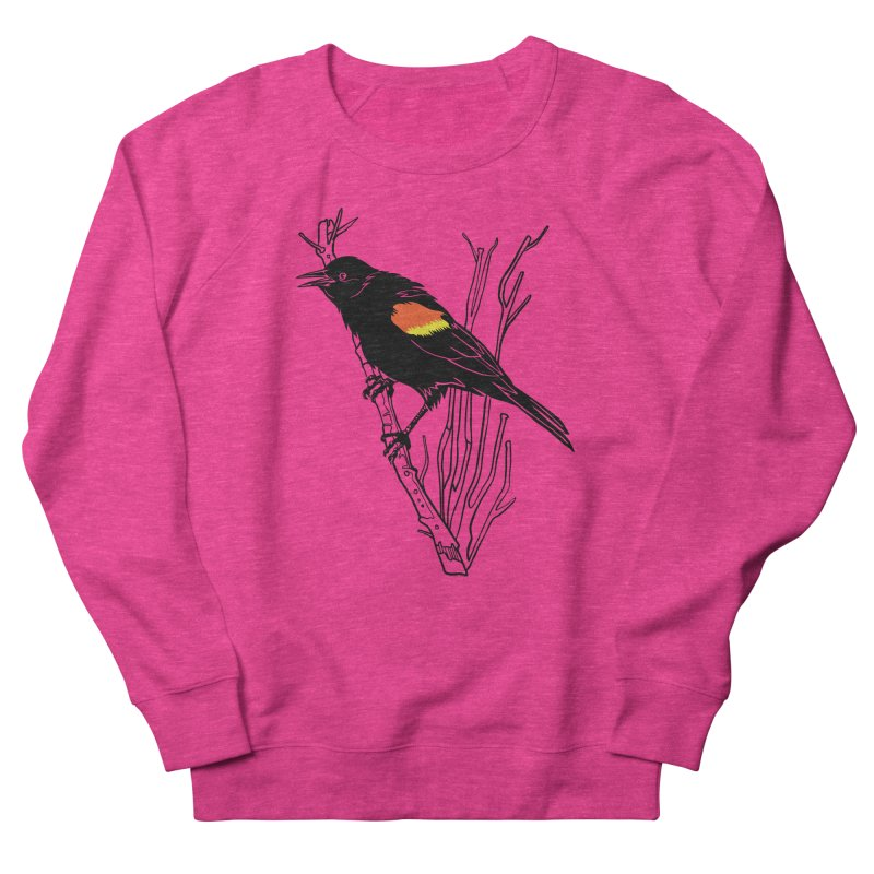 Red-Winged Blackbird Men's French Terry Sweatshirt by My Metal Hand Artist Shop