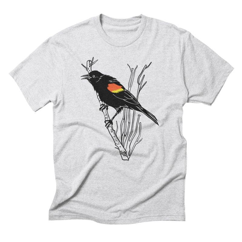Red-Winged Blackbird Men's Triblend T-Shirt by My Metal Hand Artist Shop