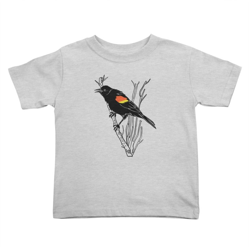 Red-Winged Blackbird Kids Toddler T-Shirt by My Metal Hand Artist Shop