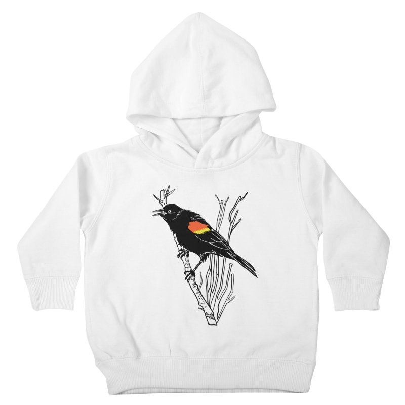 Red-Winged Blackbird Kids Toddler Pullover Hoody by My Metal Hand Artist Shop