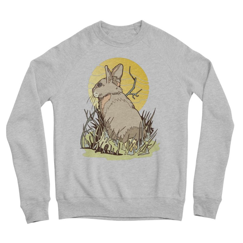 October Rabbit Men's Sweatshirt by My Metal Hand Artist Shop