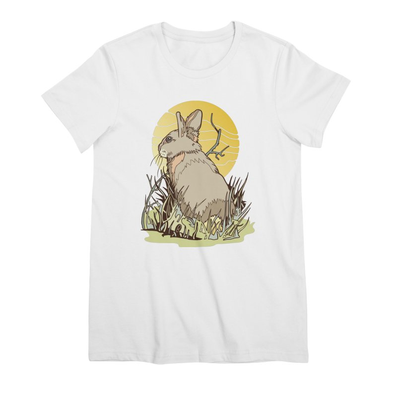 October Rabbit Women's Premium T-Shirt by My Metal Hand Artist Shop