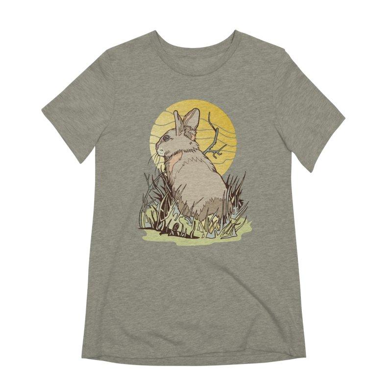 October Rabbit Women's Extra Soft T-Shirt by My Metal Hand Artist Shop