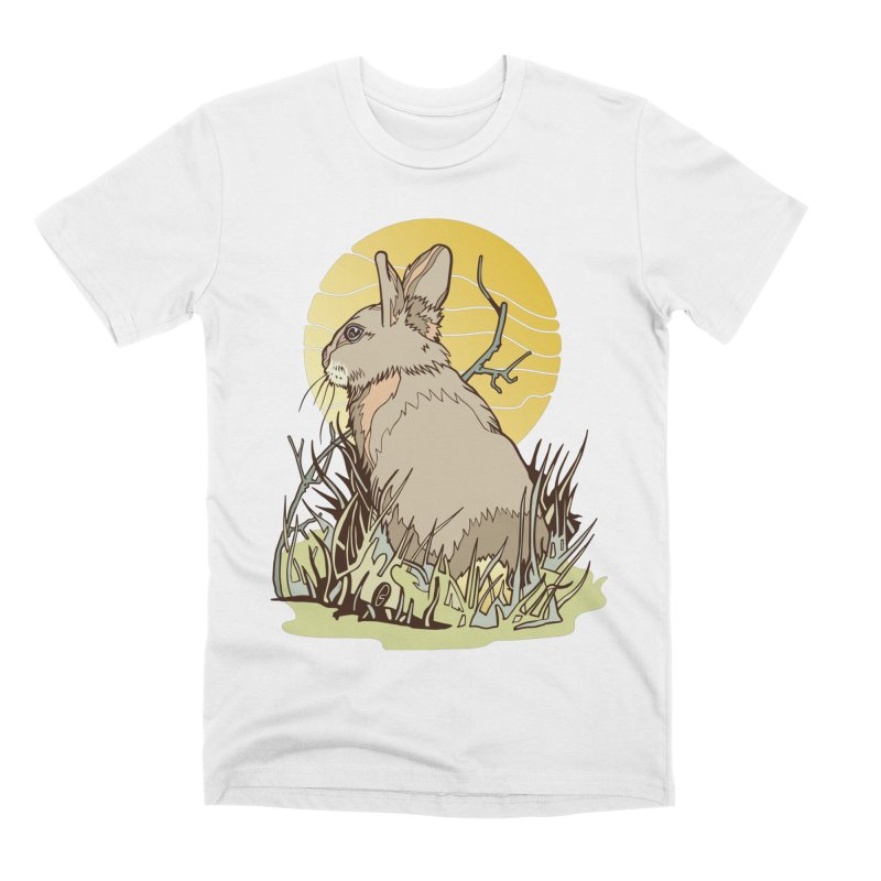 October Rabbit Men's Premium T-Shirt by My Metal Hand Artist Shop