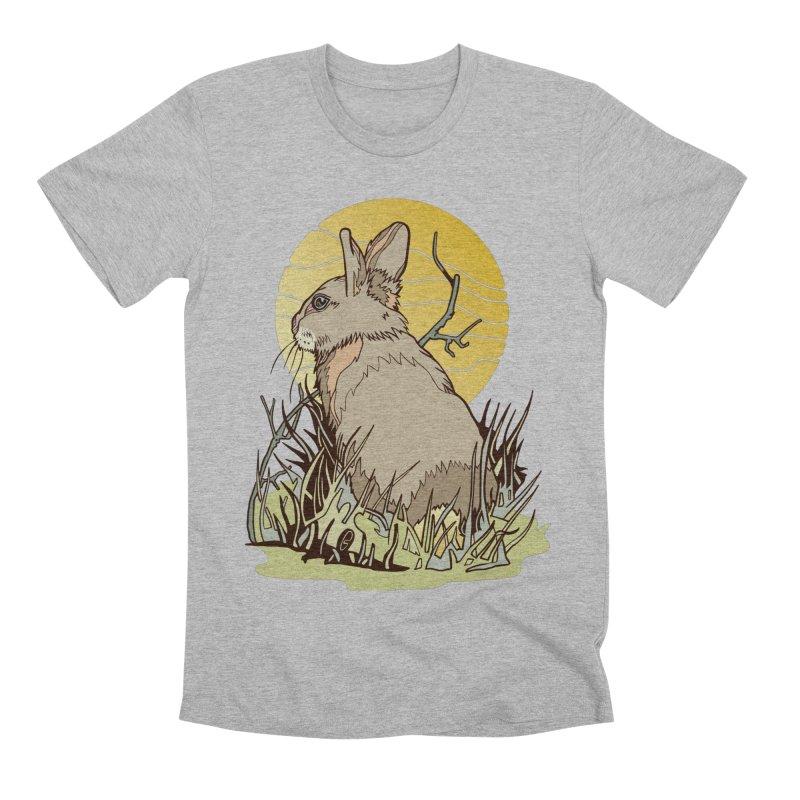 October Rabbit Men's Premium T-Shirt by My Metal Hand Artist Shop