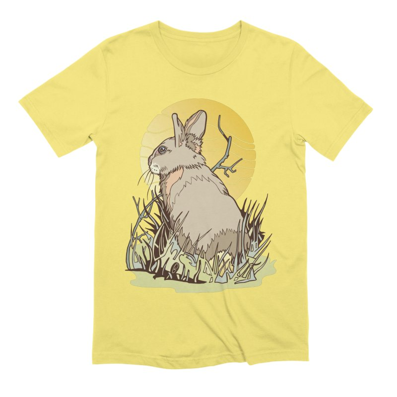 October Rabbit Men's Extra Soft T-Shirt by My Metal Hand Artist Shop