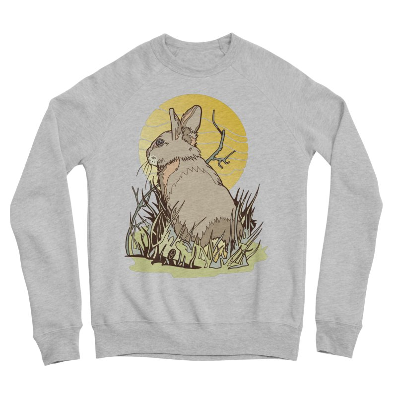October Rabbit Women's Sponge Fleece Sweatshirt by My Metal Hand Artist Shop