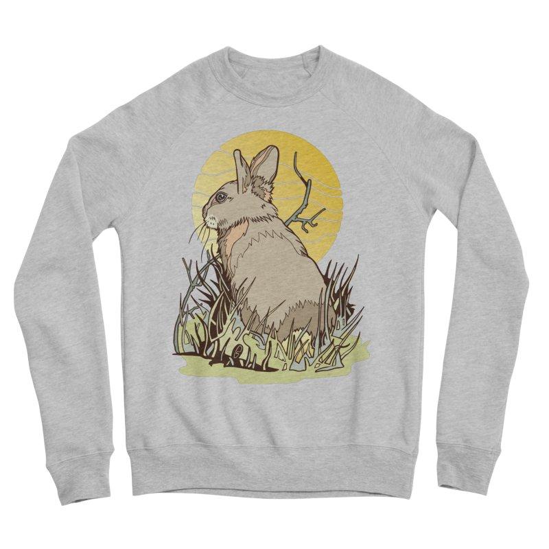 October Rabbit Men's Sponge Fleece Sweatshirt by My Metal Hand Artist Shop