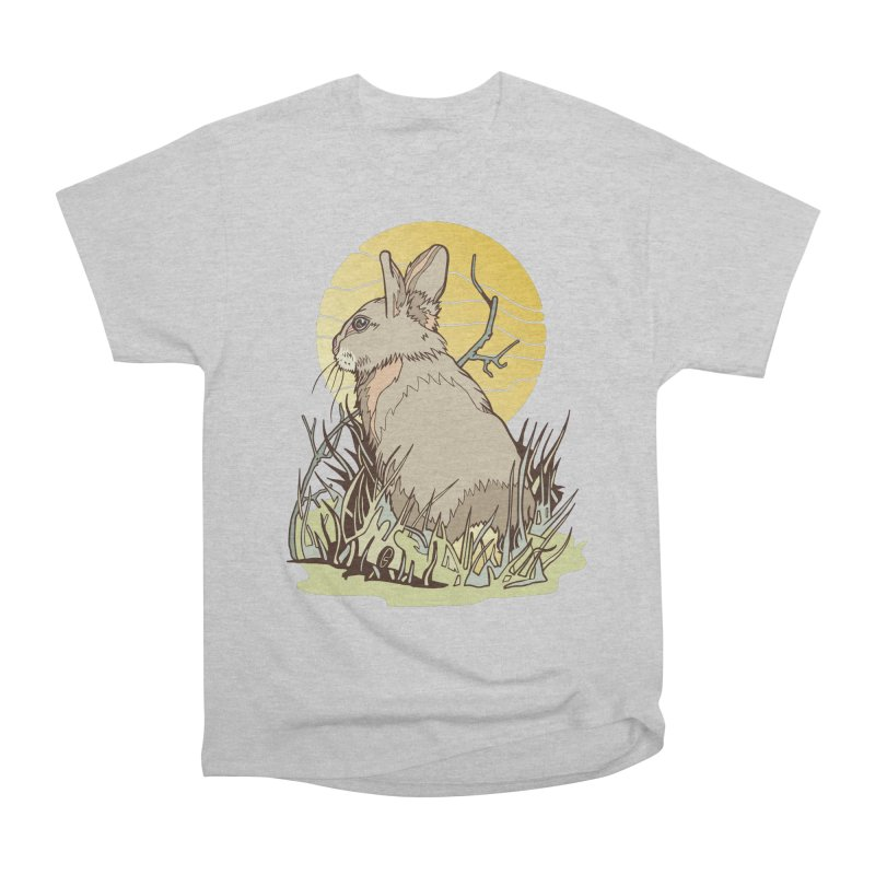October Rabbit Men's Heavyweight T-Shirt by My Metal Hand Artist Shop