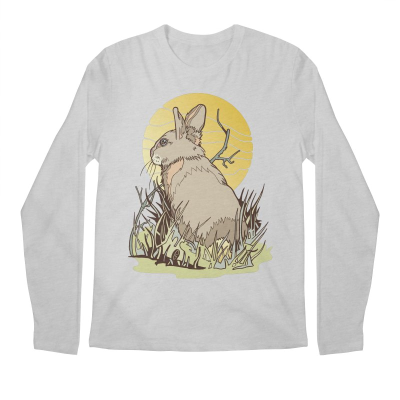 October Rabbit Men's Regular Longsleeve T-Shirt by My Metal Hand Artist Shop