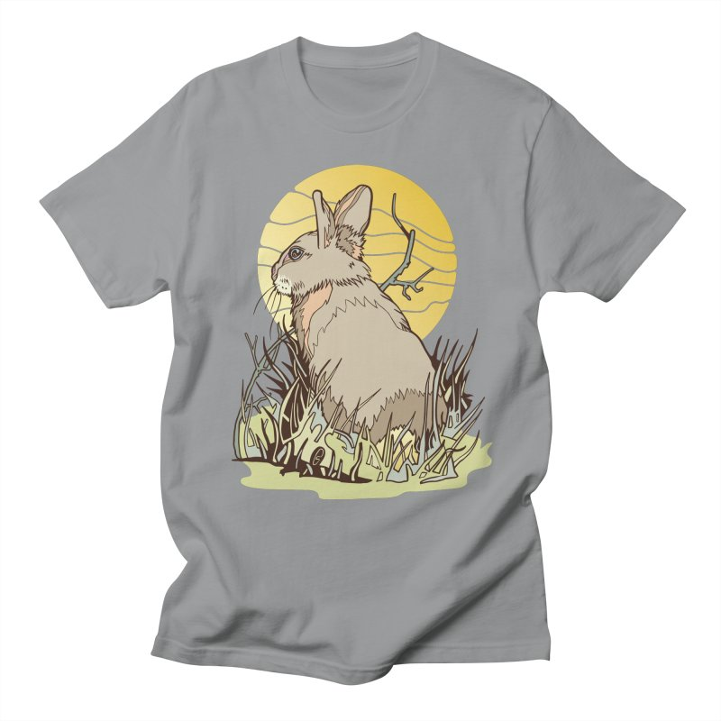 October Rabbit Men's Regular T-Shirt by My Metal Hand Artist Shop
