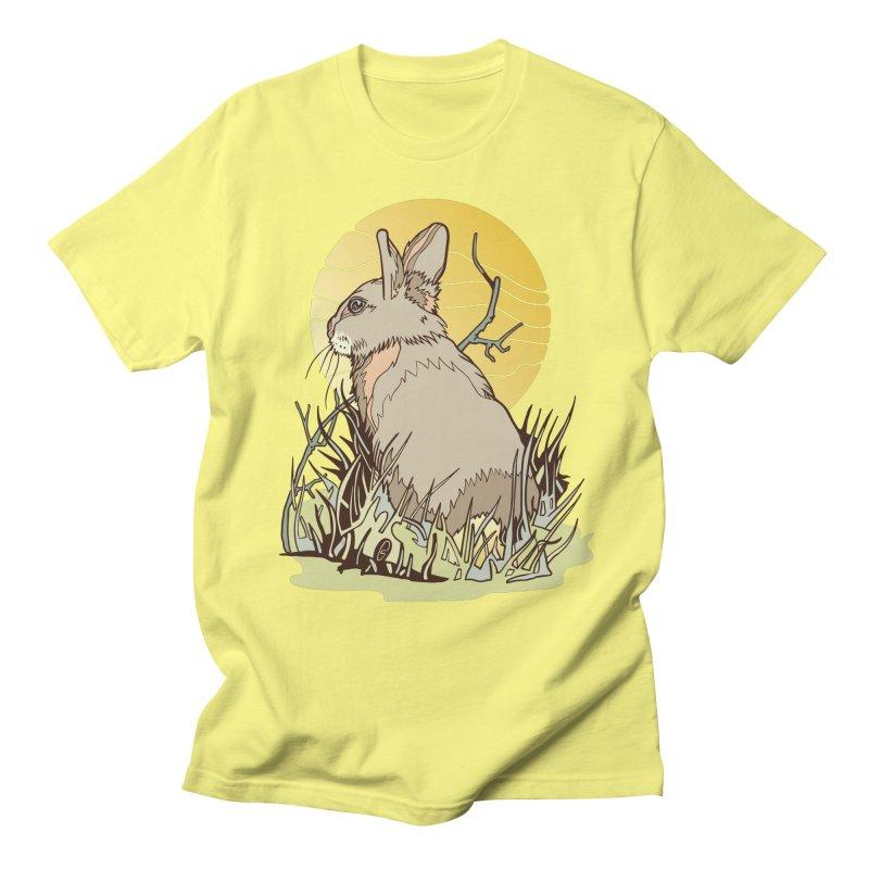 October Rabbit Men's Regular T-Shirt by My Metal Hand Artist Shop