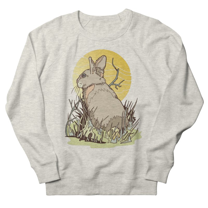 October Rabbit Men's French Terry Sweatshirt by My Metal Hand Artist Shop