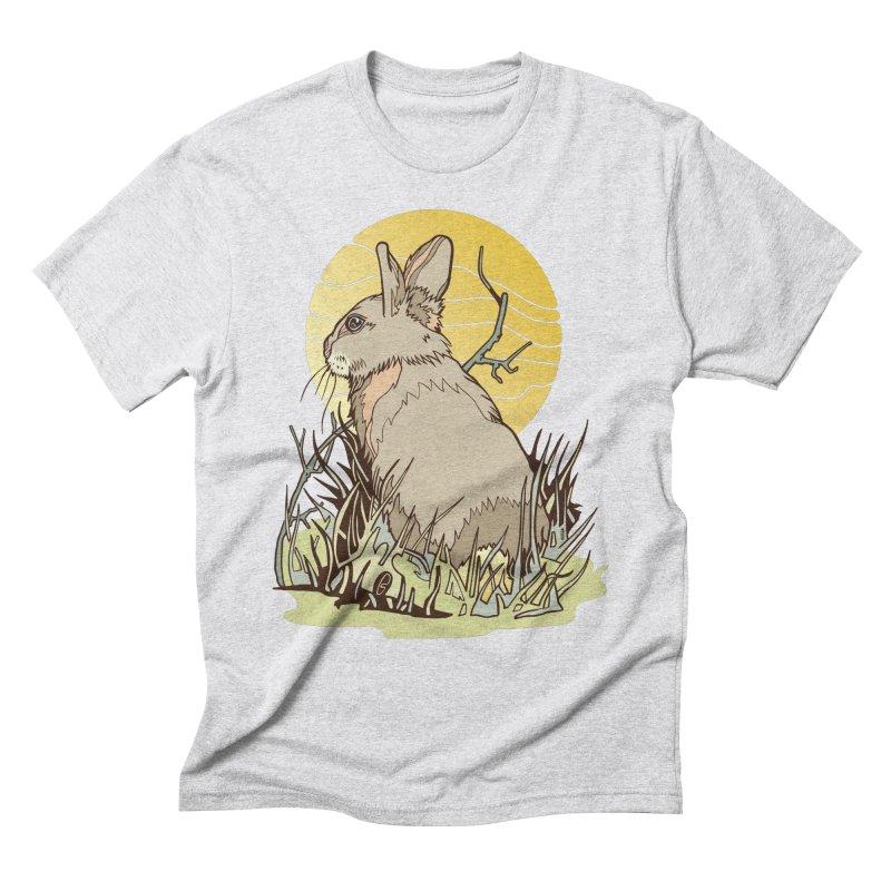 October Rabbit Men's Triblend T-Shirt by My Metal Hand Artist Shop