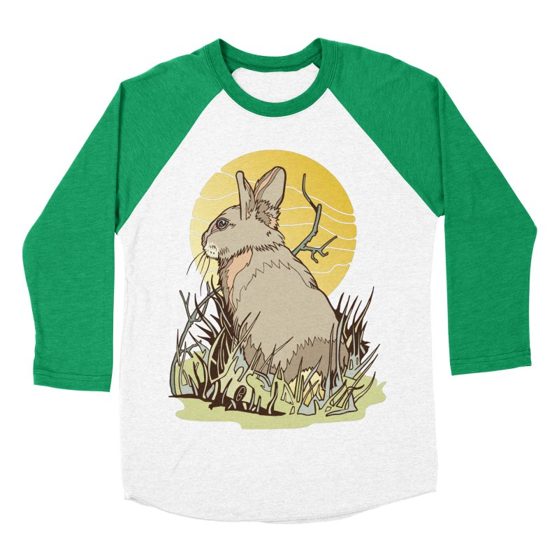 October Rabbit Women's Baseball Triblend Longsleeve T-Shirt by My Metal Hand Artist Shop