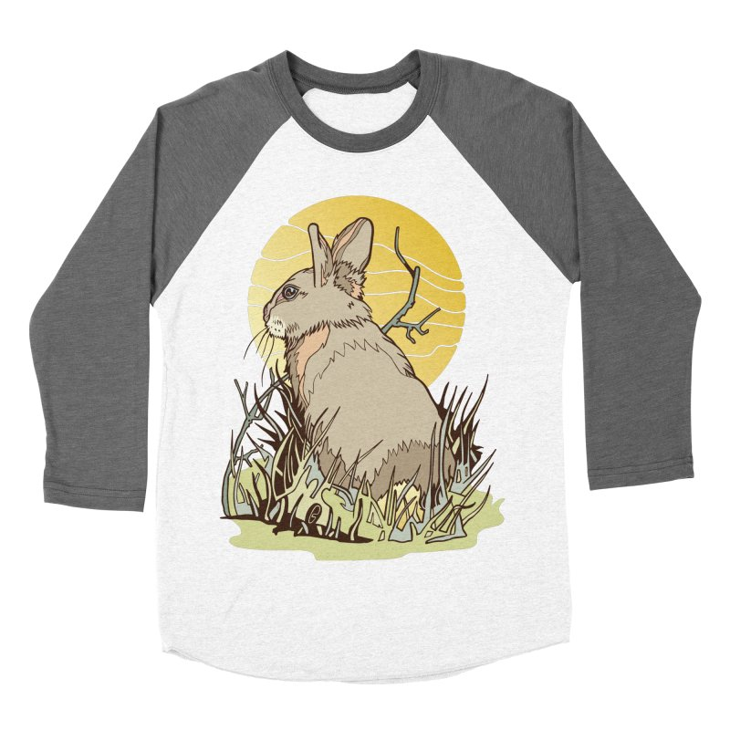 October Rabbit Men's Baseball Triblend Longsleeve T-Shirt by My Metal Hand Artist Shop