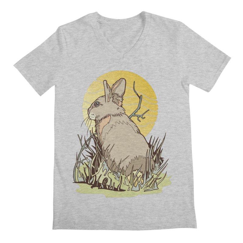 October Rabbit Men's Regular V-Neck by My Metal Hand Artist Shop