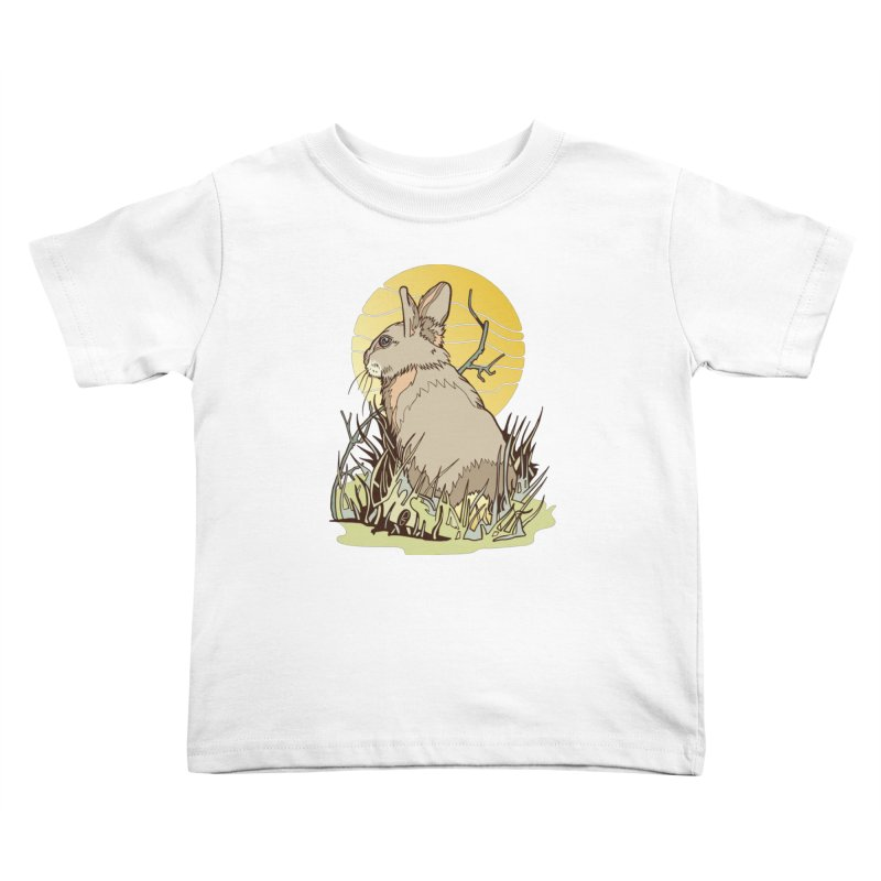 October Rabbit Kids Toddler T-Shirt by My Metal Hand Artist Shop