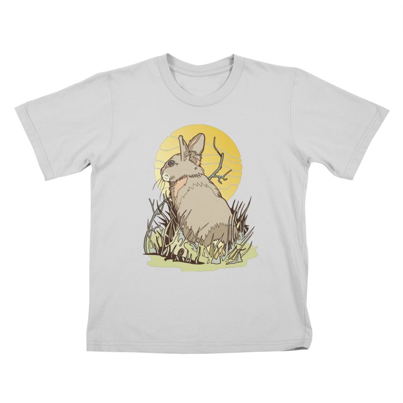 October Rabbit Kids T-Shirt by My Metal Hand Artist Shop