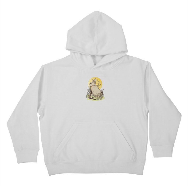 October Rabbit Kids Pullover Hoody by My Metal Hand Artist Shop