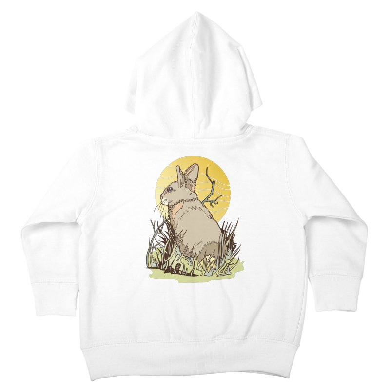 October Rabbit Kids Toddler Zip-Up Hoody by My Metal Hand Artist Shop