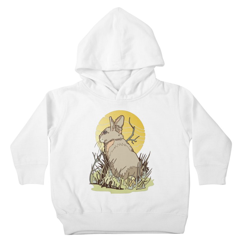 October Rabbit Kids Toddler Pullover Hoody by My Metal Hand Artist Shop