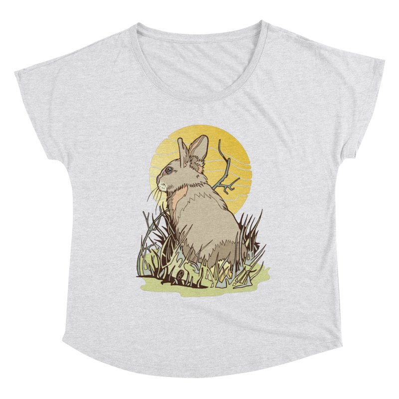 October Rabbit Women's Dolman Scoop Neck by My Metal Hand Artist Shop
