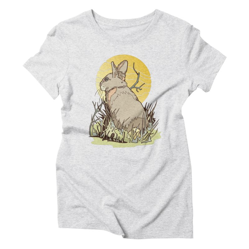 October Rabbit Women's Triblend T-Shirt by My Metal Hand Artist Shop