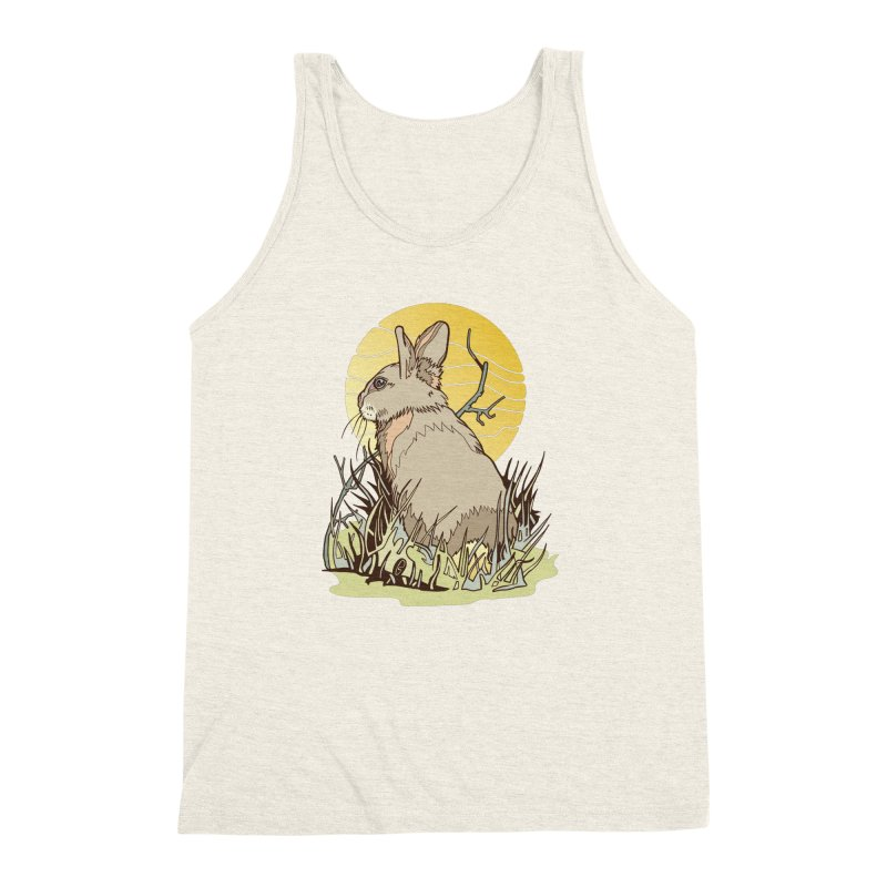 October Rabbit Men's Triblend Tank by My Metal Hand Artist Shop
