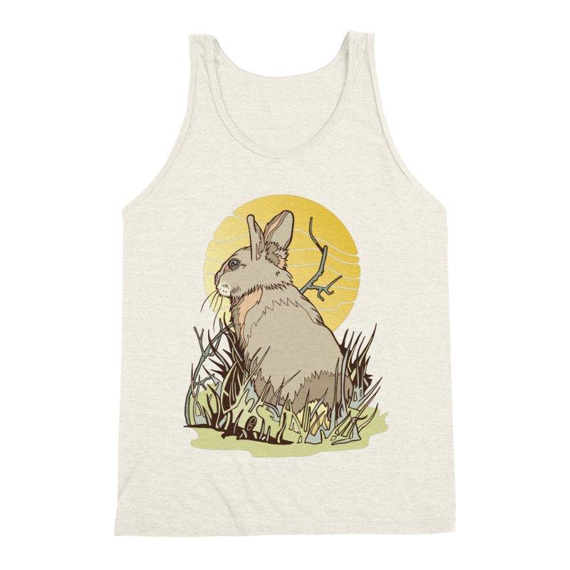 October Rabbit Men's Triblend Tank by My Metal Hand Artist Shop