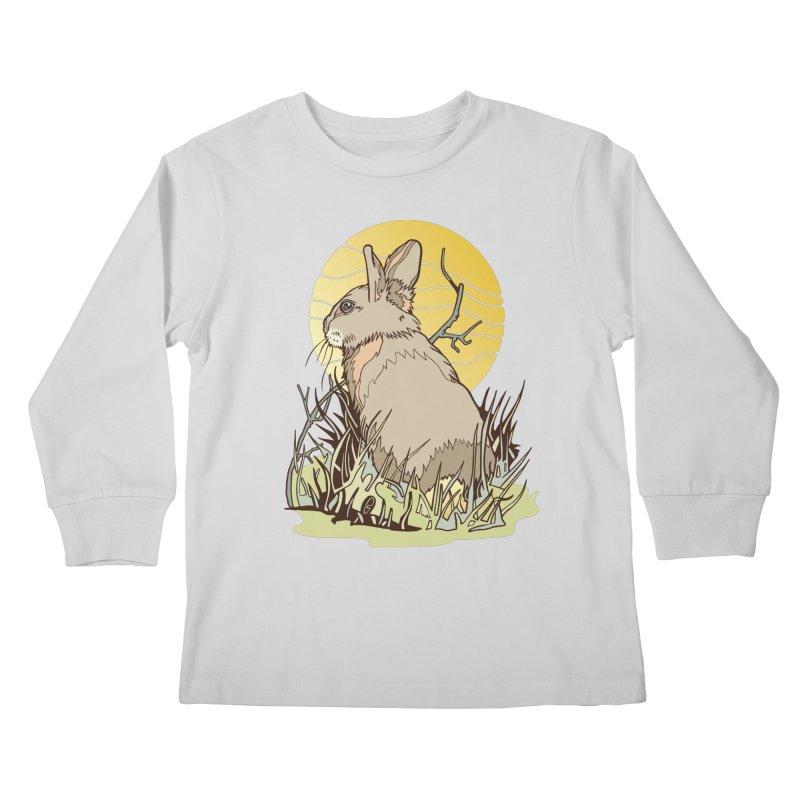 October Rabbit Kids Longsleeve T-Shirt by My Metal Hand Artist Shop