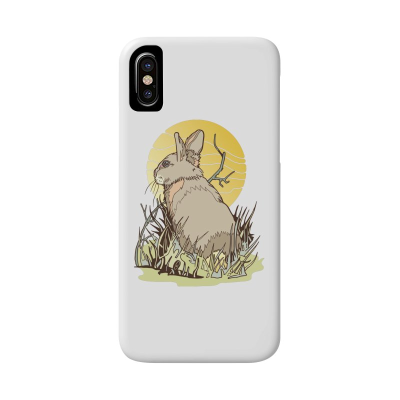 October Rabbit Accessories Phone Case by My Metal Hand Artist Shop