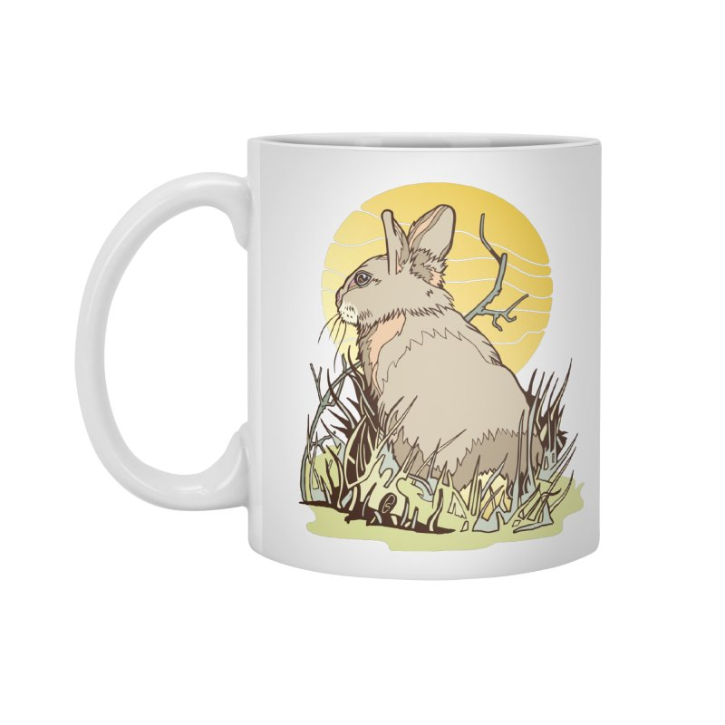 October Rabbit Accessories Standard Mug by My Metal Hand Artist Shop