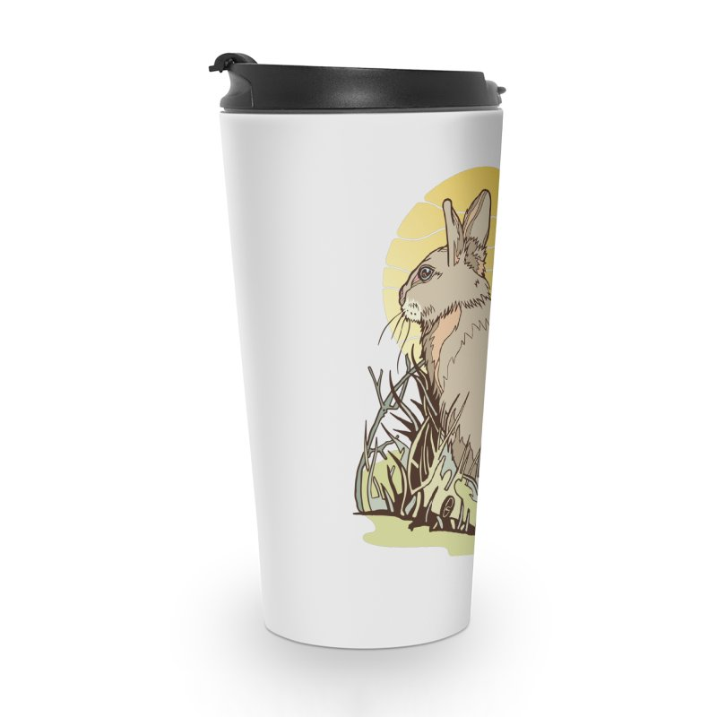 October Rabbit Accessories Travel Mug by My Metal Hand Artist Shop