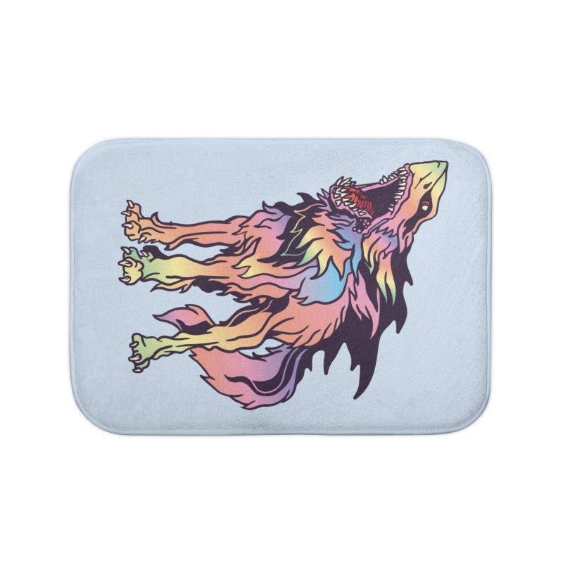 Shark Wolf Spectrum Home Bath Mat by My Metal Hand Artist Shop