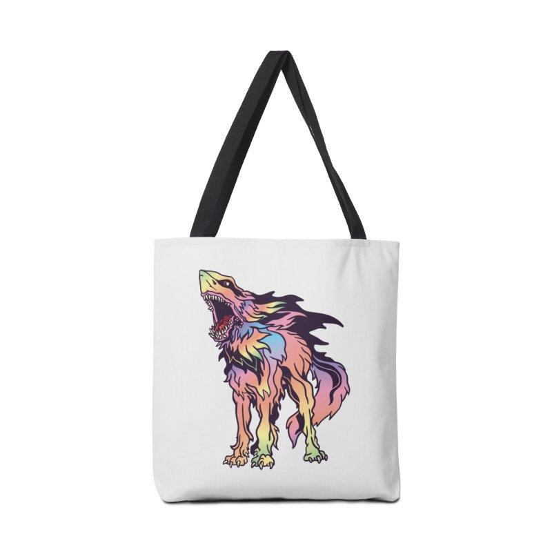 Shark Wolf Spectrum Accessories Bag by My Metal Hand Artist Shop