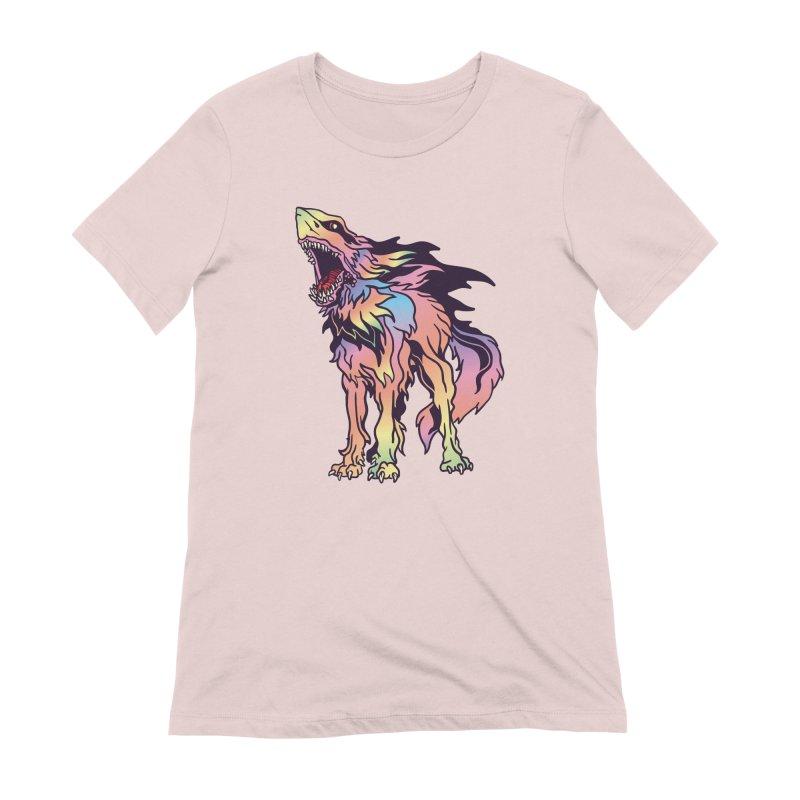 Shark Wolf Spectrum Women's Extra Soft T-Shirt by My Metal Hand Artist Shop