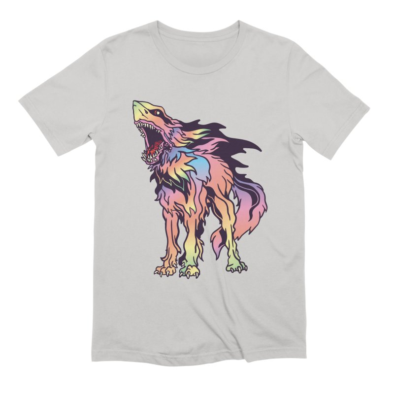 Shark Wolf Spectrum Men's Extra Soft T-Shirt by My Metal Hand Artist Shop