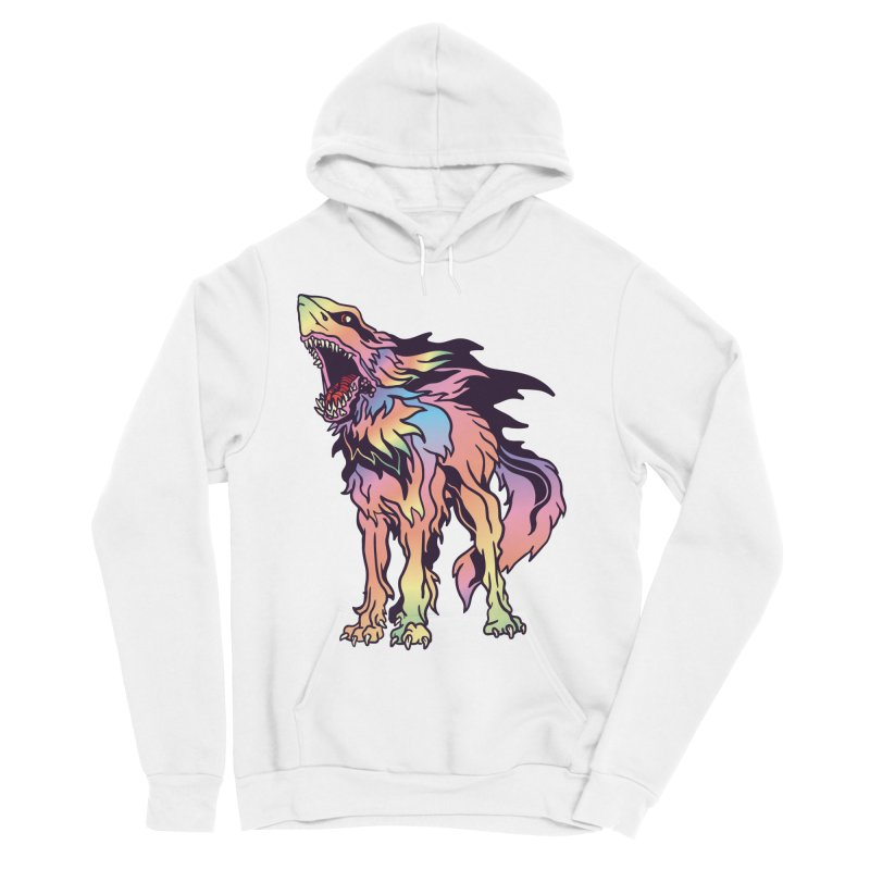 Shark Wolf Spectrum Men's Sponge Fleece Pullover Hoody by My Metal Hand Artist Shop
