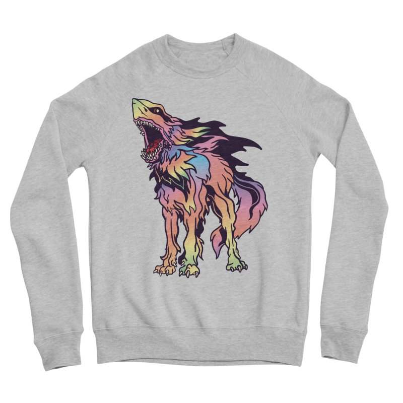 Shark Wolf Spectrum Women's Sponge Fleece Sweatshirt by My Metal Hand Artist Shop