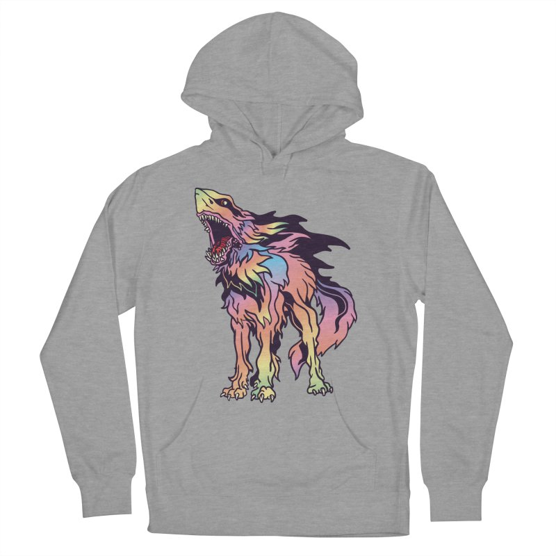 Shark Wolf Spectrum Women's French Terry Pullover Hoody by My Metal Hand Artist Shop